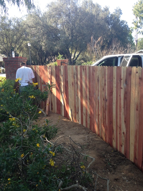 fence rebuild- mid project