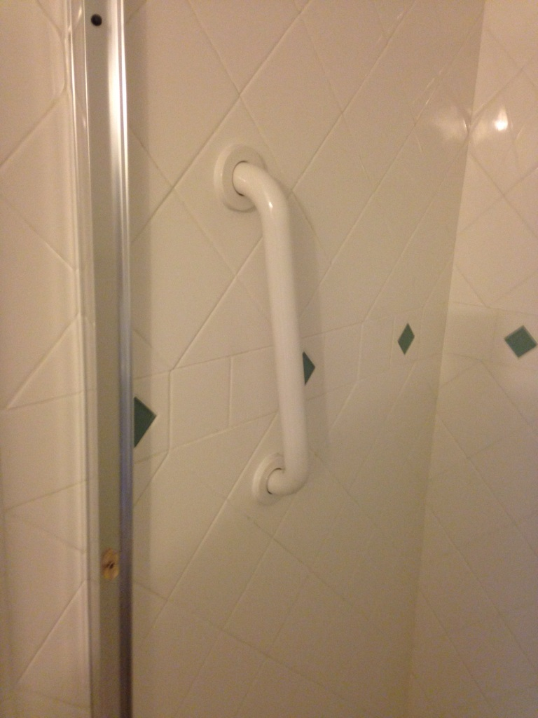 Shower Safety Handle Install